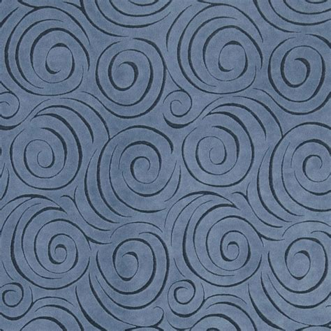 Fabric For Reupholstering Blue Abstract Swirl Microfiber Upholstery Fabric By The