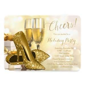 gold high heels champagne corporate holiday party