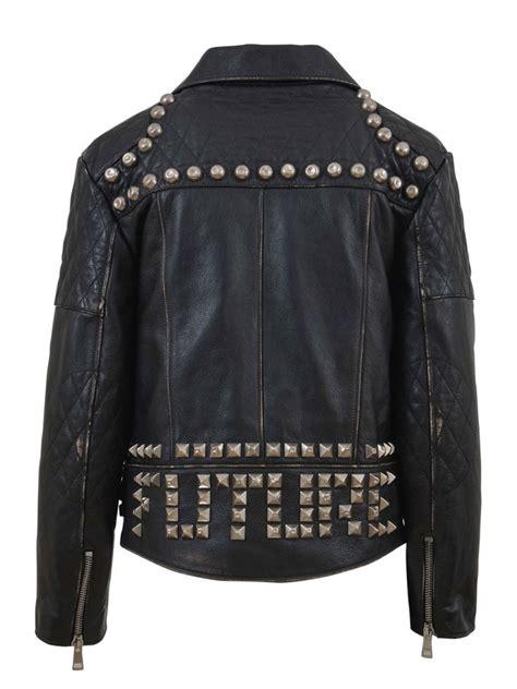 2 Die 4 Gucci Biker Jacket by Gucci Studded Leather Biker Jacket Black Modesens