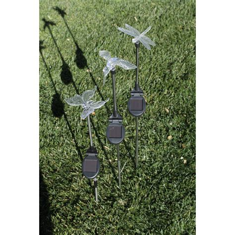 harbor freight solar lights sale solar garden light set dragonfly hummingbird butterfly