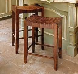 Woven Leather Chair Woven Leather Stools Modern Bar Stools And Counter