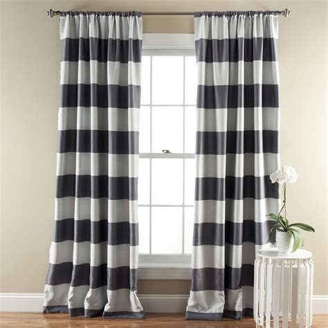 black and white striped drapes design ideas stripe blackout window curtain set lush decor www