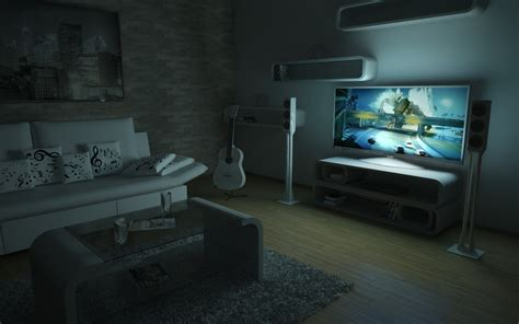 living room 11 at night by slographic on deviantart