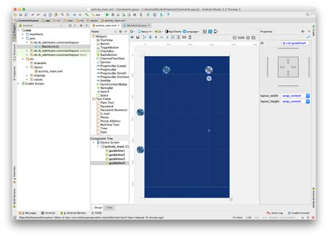 android layout use percentage android studio constraint layout guidelines und