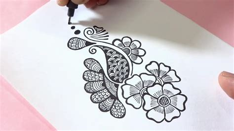 simple doodle drawings easy henna mehndi design doodle