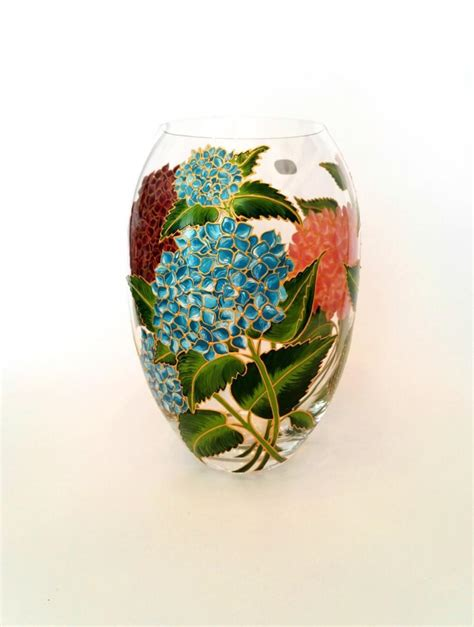 Painted Flower Vases by Anniversary Gift For Painted Flower Vase Wedding
