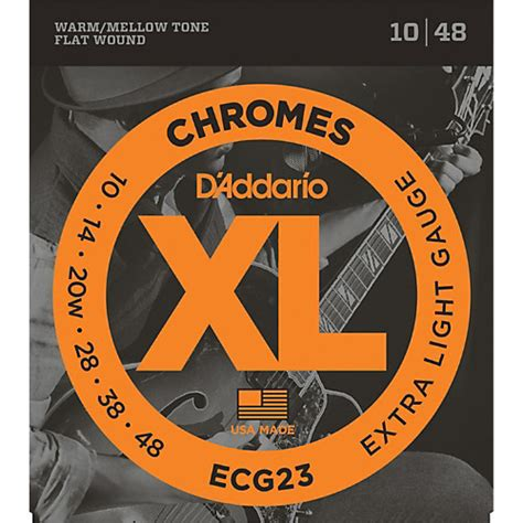 light electric guitar strings d addario ecg23 chrome light electric guitar strings