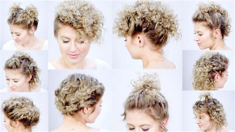 easy hairstyles  short hair  curling iron