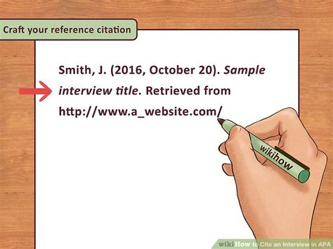 apa format quoting a person 3 ways to cite an interview in apa wikihow
