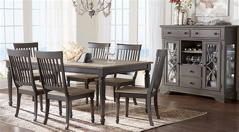 Dining Room Collections by Cindy Crawford Home Ocean Grove Gray 5 Pc Dining Room
