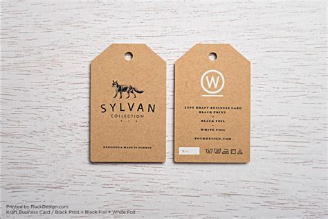 card templates tags free kraft paper business card template rockdesign