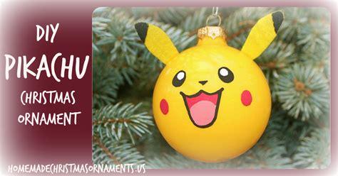 pikachu christmas ornament homemade christmas ornaments