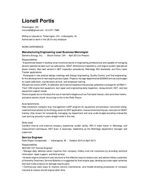 lionell portis resume update 10 2015
