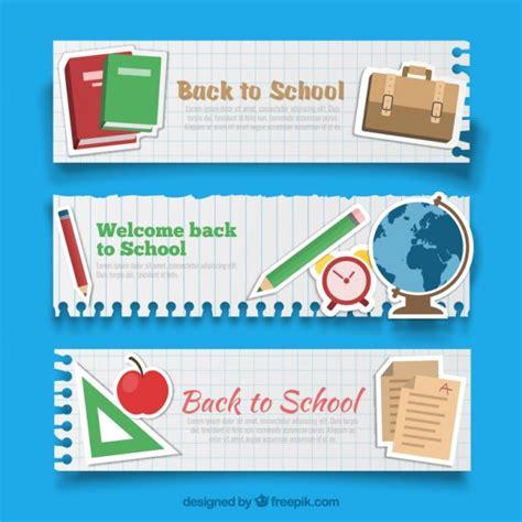 Back To School Card Template by Banners De Vuelta Al Cole Descargar Vectores Premium