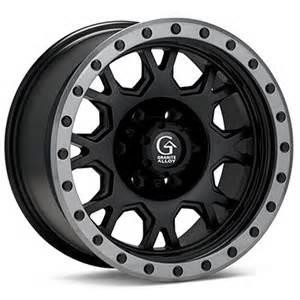 Granite Alloy Truck Wheels Granite Alloy Gv8 Black Anthracite Faux Beadlocks Ford
