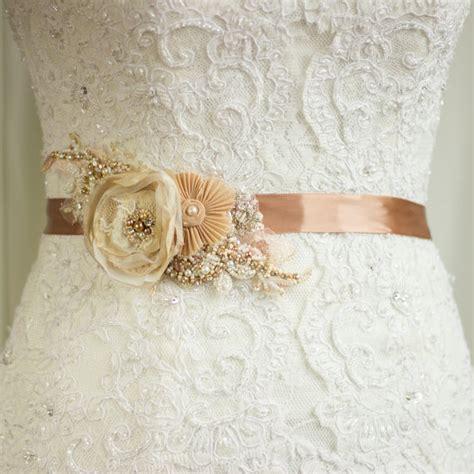 98 vintage wedding belt bridal belt gold sash