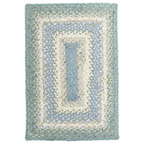 100 Cotton Braided Rugs - baja blue cotton braided rugs
