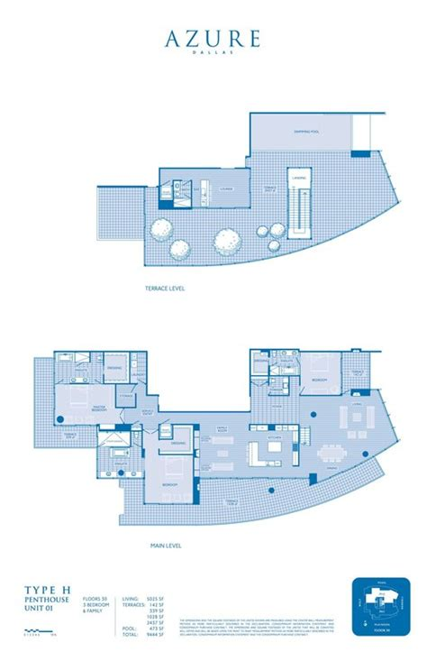 Azure Floor Plan | floor plans azure condos of dallas