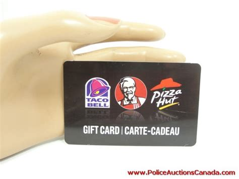 Buy Taco Bell E Gift Card - police auctions canada taco bell kfc pizza hut gift card 25 00 128375c