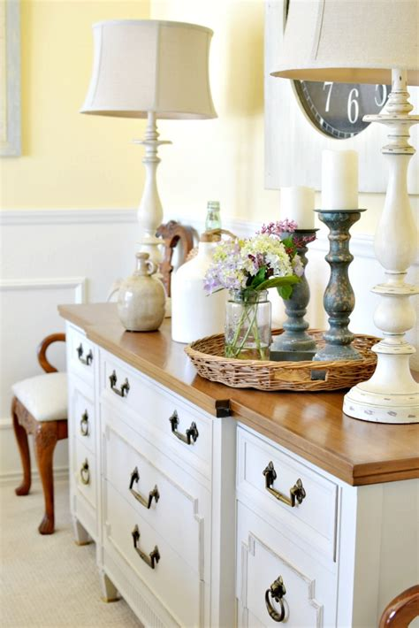 Dining Room Buffet Table Dining Room Buffet Table Makeover At The Picket Fence