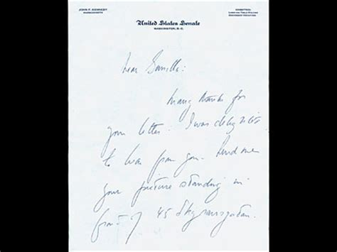 Letter Morning F Kennedy Secret Letters To Gunilla Post Abc News