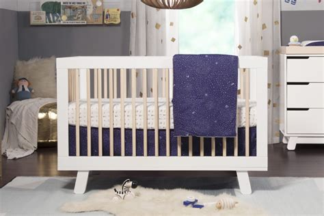 babyletto hudson 3 in 1 convertible crib white and