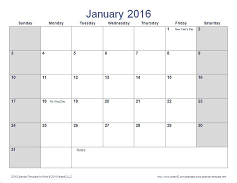 calendar template by vertex42 the 2016 calendar template for word from vertex42