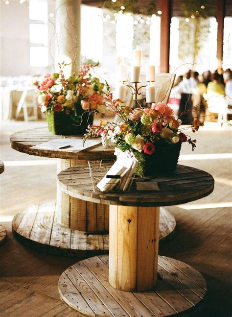 old factory pieces used as wedding decor   Photography by