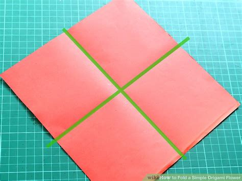One Fold Origami - how to fold a simple origami flower 12 steps with pictures