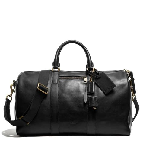 Coach Bleeker Leather Large Duffle by Coach Bleecker Duffle In Leather In Black For Brass