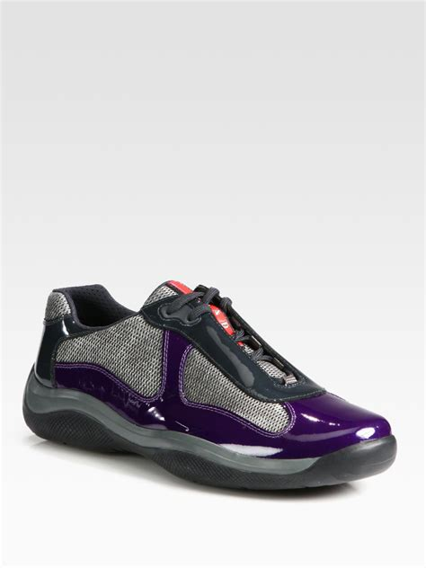 prada sneakers prada americas cup manhattan sport sneakers in purple for