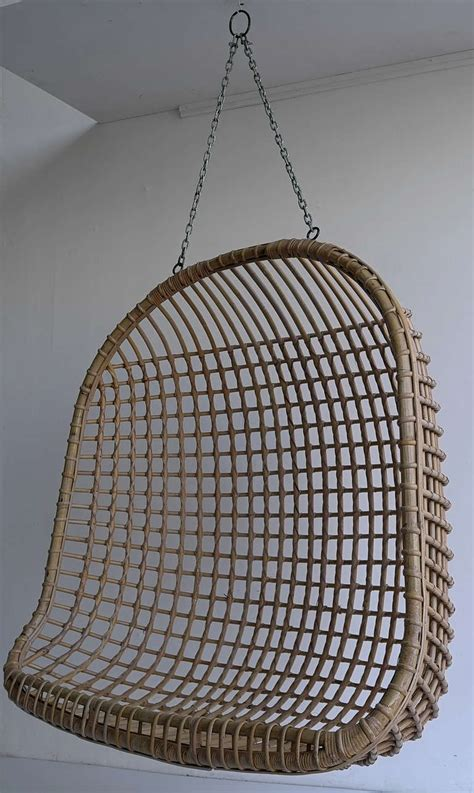 wicker hanging chair attributed to nanna ditzel circa rare two seat rattan hanging egg chair at 1stdibs