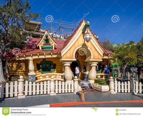 toontown house mickey mouse house in toontown disneyland editorial photography image 67620082