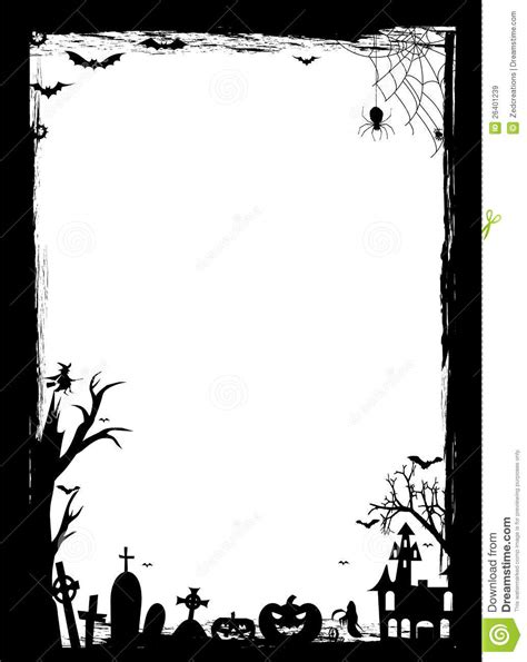 free printable halloween borders invitations black and white halloween borders www imgkid com the