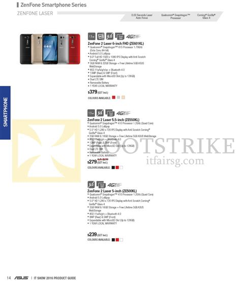 Asus K401ub Fr004t Blue asus smartphones zenfone 2 ze601kl ze550kl ze500kl it show 2016 price list brochure flyer image