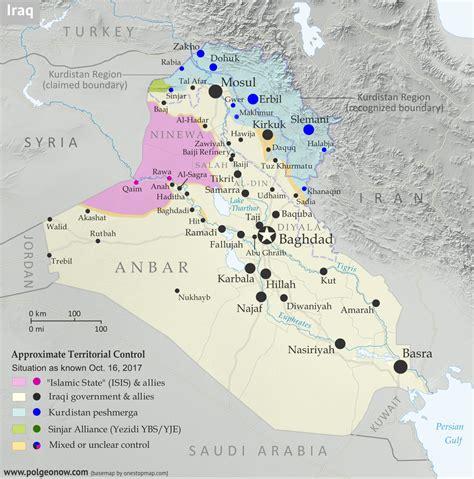 Iraq Control Map & Timeline: Government Takes Kirkuk from ... Iraq 2017