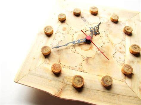 juniper wood clock handmade wall clock large wooden clock unique gift untreated wood