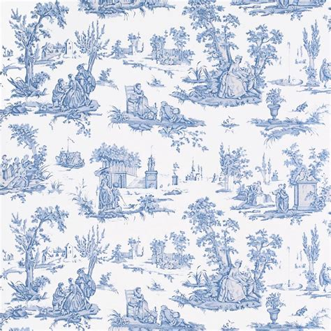 courting toile wallpaper cream blue degtct101