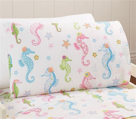 seahorse bedding seahorse toddler sheet set pottery barn kids