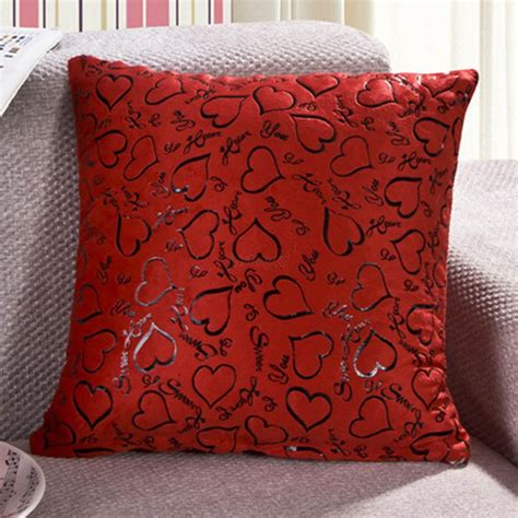 bed throw pillows chic nice square heart style throw pillow case cushion