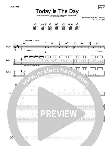 today is the day lincoln brewster praisecharts quot today is the day quot guitar tab lincoln