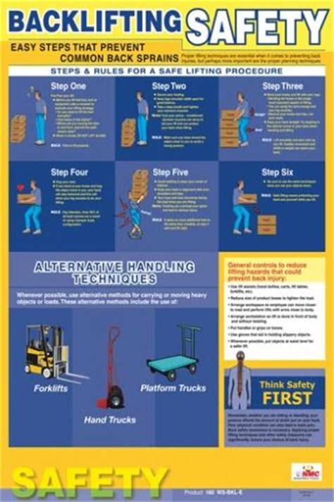 printable safe lifting poster safe lifting back safety poster