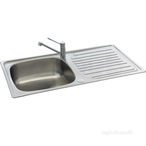 kitchen single bowl sink contessa kitchen sink with left large single bowl and drainer carron