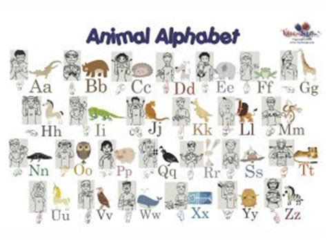 Asl Animals Printable