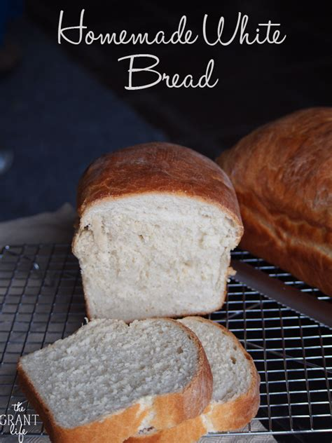 Handmade White Bread - white bread the grant