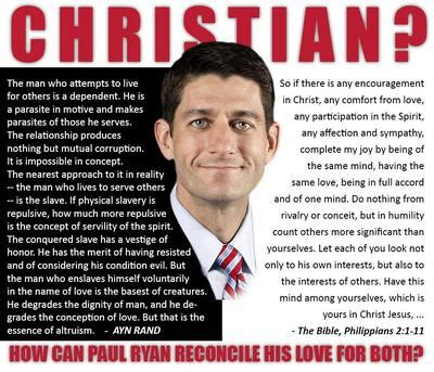 paul ryan is a hypocrite charlatan and right wing paul ryan ayn rand and the gospel