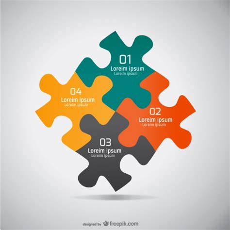 free layout graphic design jigsaw flat design graphic vector free download