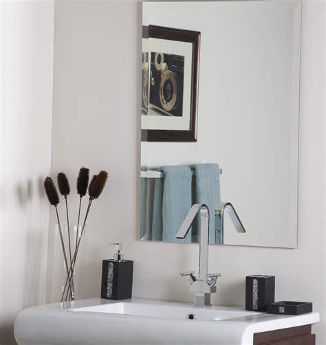 frameless bathroom mirror large frameless bathroom vanity mirrors home design ideas
