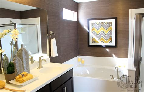 brown and yellow bathroom thrifty and chic diy projects and home decor