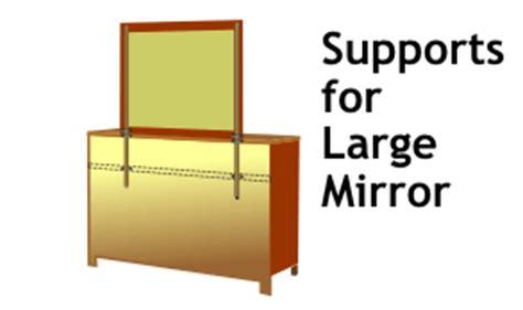 Mirror Brackets For Dresser by Dresser Mirror Support Rails Reversadermcream